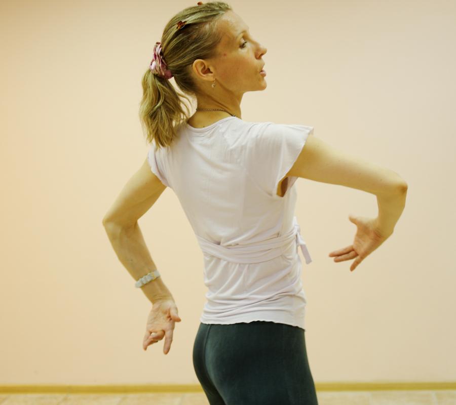 На уроке в школе танцев